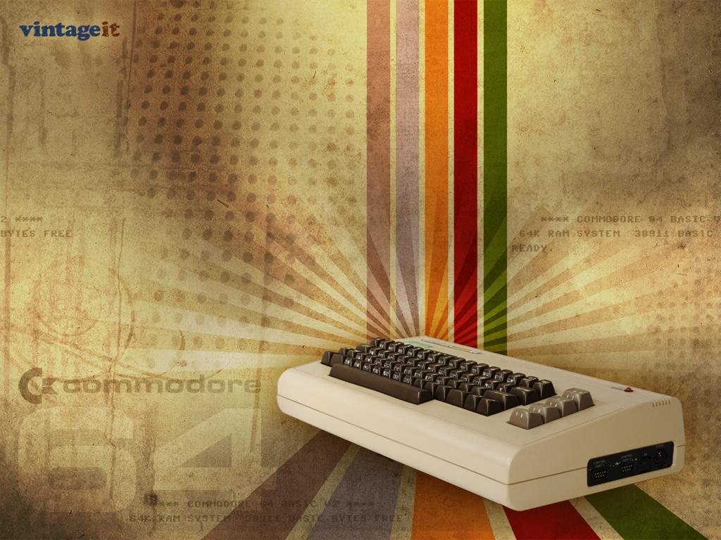 Commodore 64 Vintage Wallpaper