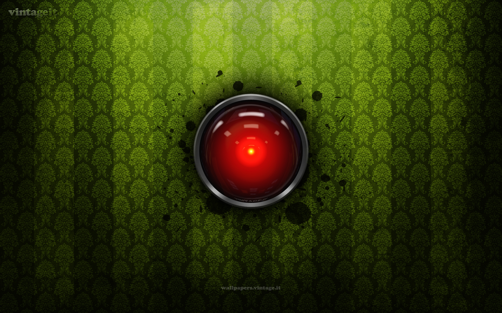 hal 9000 vintage wallpaper free desktop hd ipad iphone