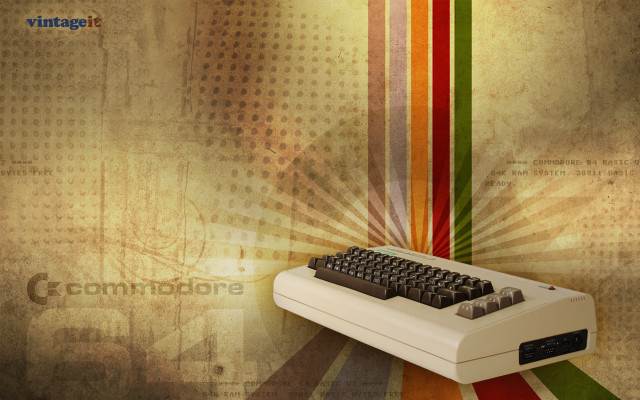 Commodore 64 vintage wallpaper