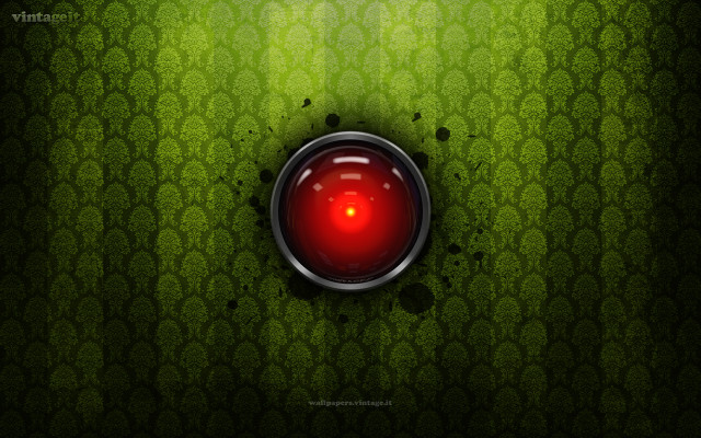 HAL 9000 vintage wallpaper