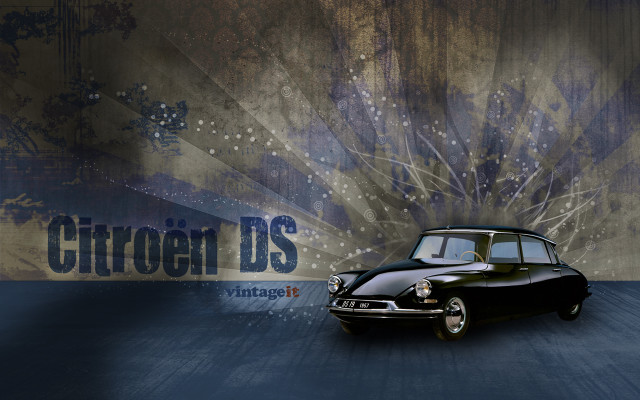 Citroën DS vintage wallpaper