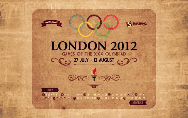 London 2012 olympics - vintage wallpaper