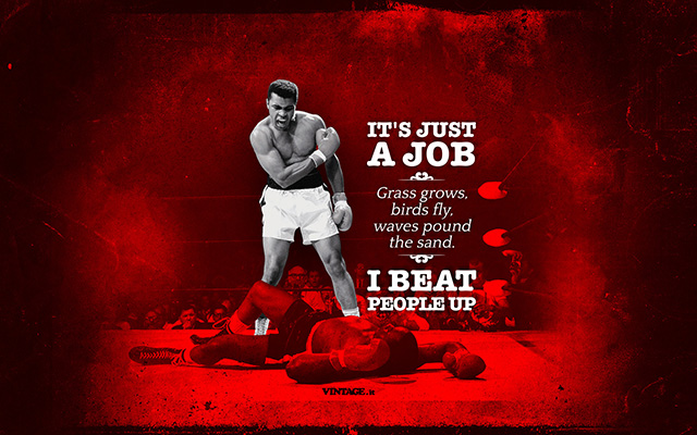 Muhammad Ali it's just a job wallpaper