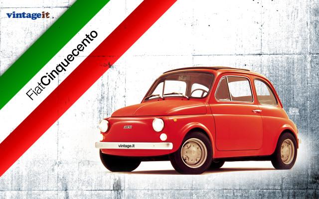Fiat 500 vintage wallpaper